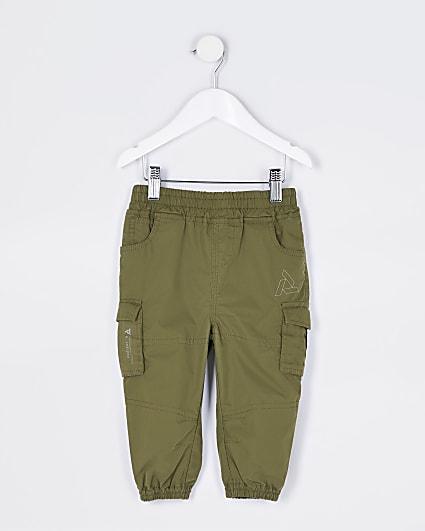 Mini boys khaki cargo trousers