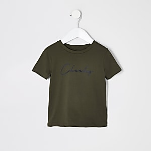 """Mini – T-Shirt """"Cheeky"""" in Khaki für Jungen"""