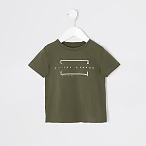"""Mini – T-Shirt """"Little Prince"""" in Khaki für Jungen"""
