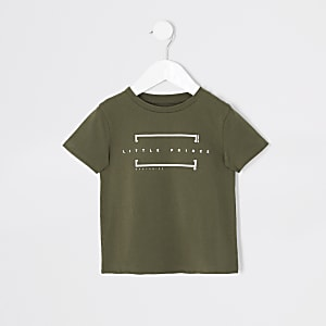 T-shirt « Little prince » kaki Mini garçon