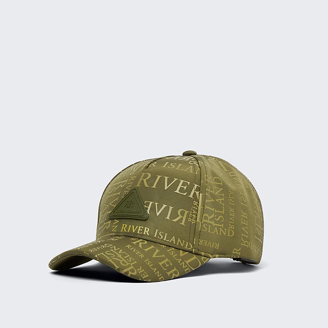 Mini boys khaki RI monogram cap