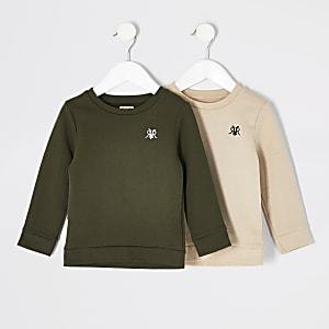 Mini – RVR-Sweatshirt in Khaki für Jungen, 2er-Set