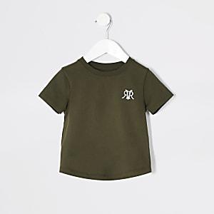 Mini - Kaki T-shirt met RVR-print voor jongens