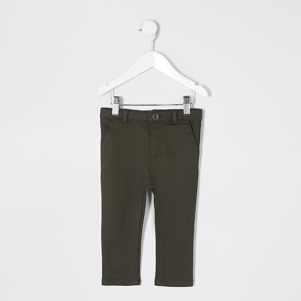 Mini - Kaki nette broek voor jongens