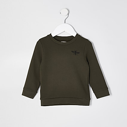 Mini boys khaki sweatshirt