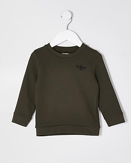 Mini boys khaki sweatshirt