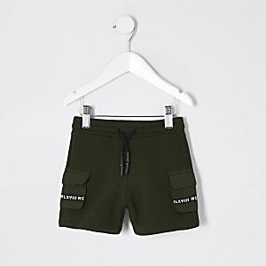 Mini - MCMLX - Kaki utility short met zakken voor jongens