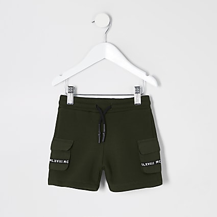 Mini boys khaki utility MCMLX pocket shorts