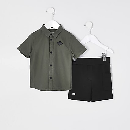 Mini boys khaki utility set