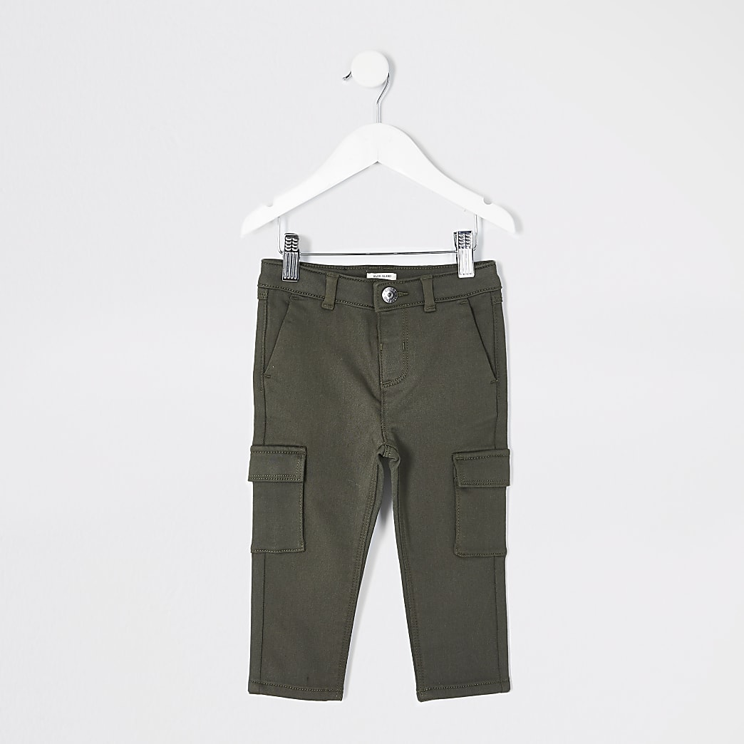 Mini boys khaki utility trousers
