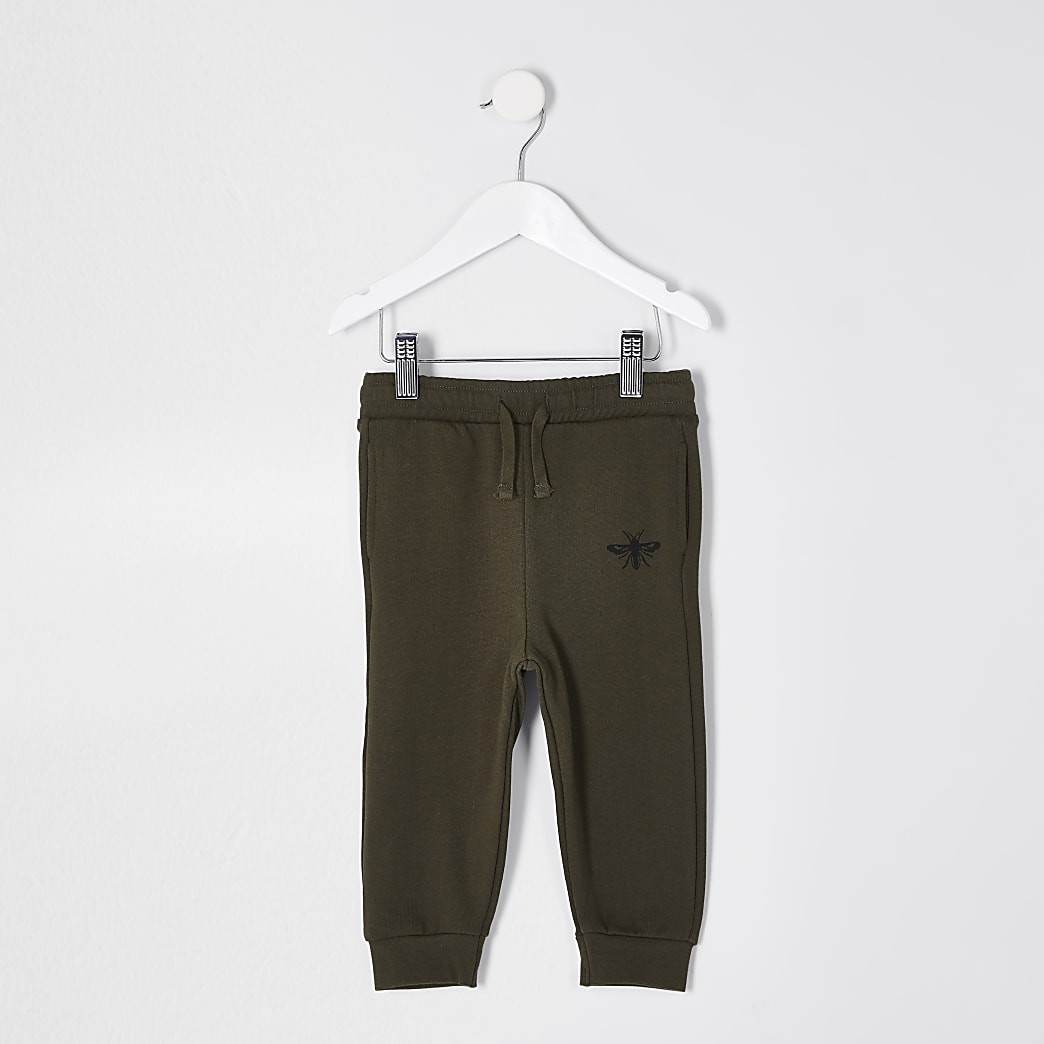 Mini boys khaki wasp joggers