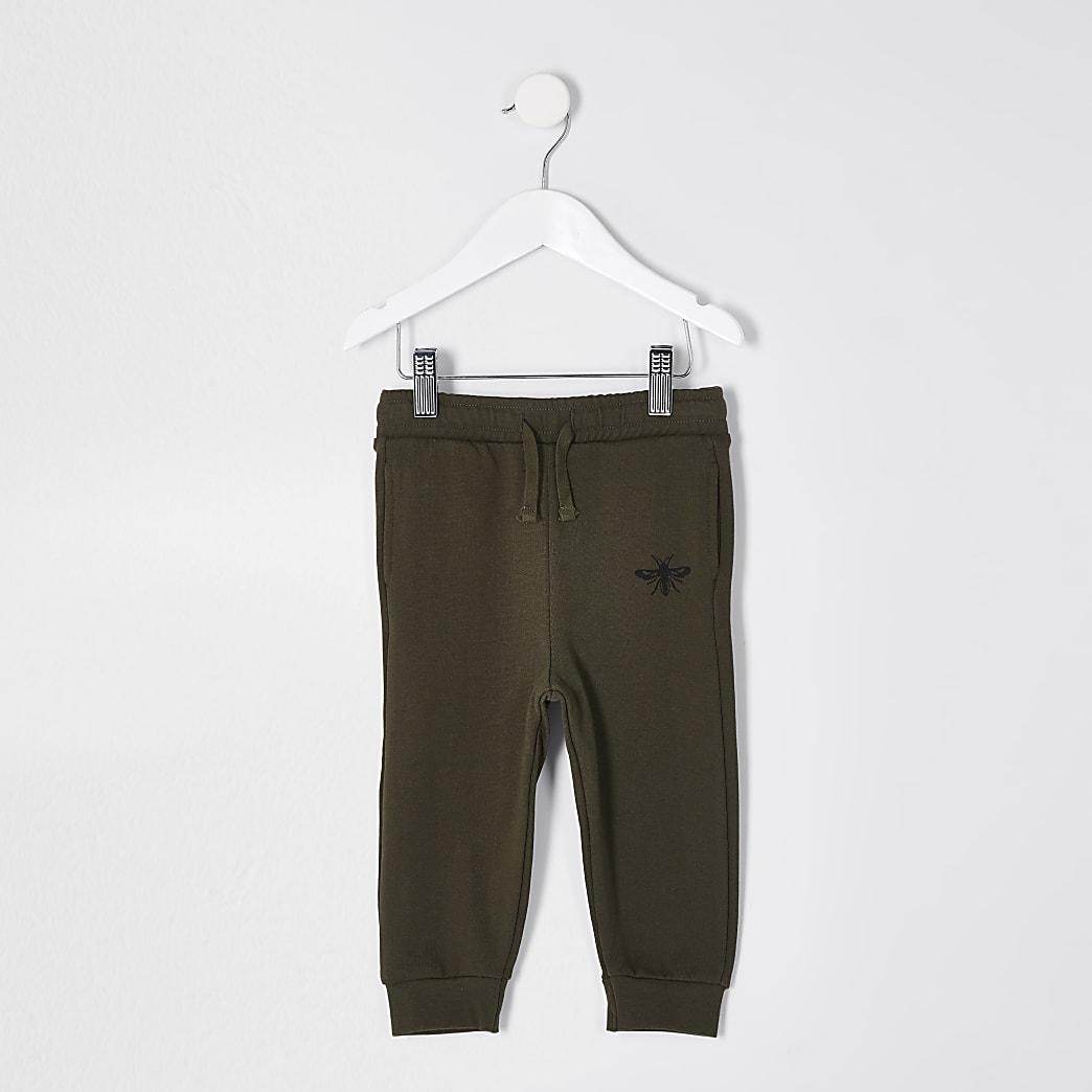 Mini boys khaki wasp joggers