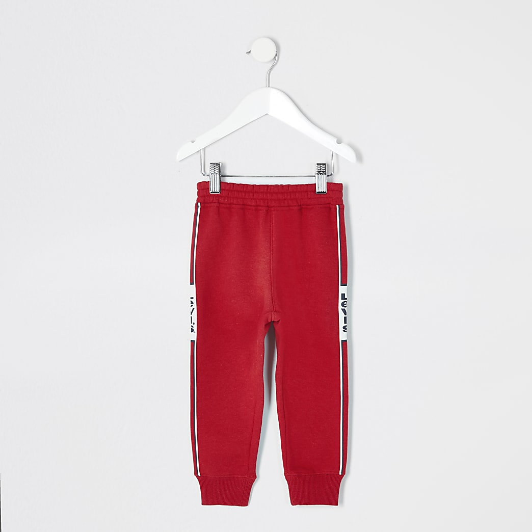 Mini boys Levi's red joggers