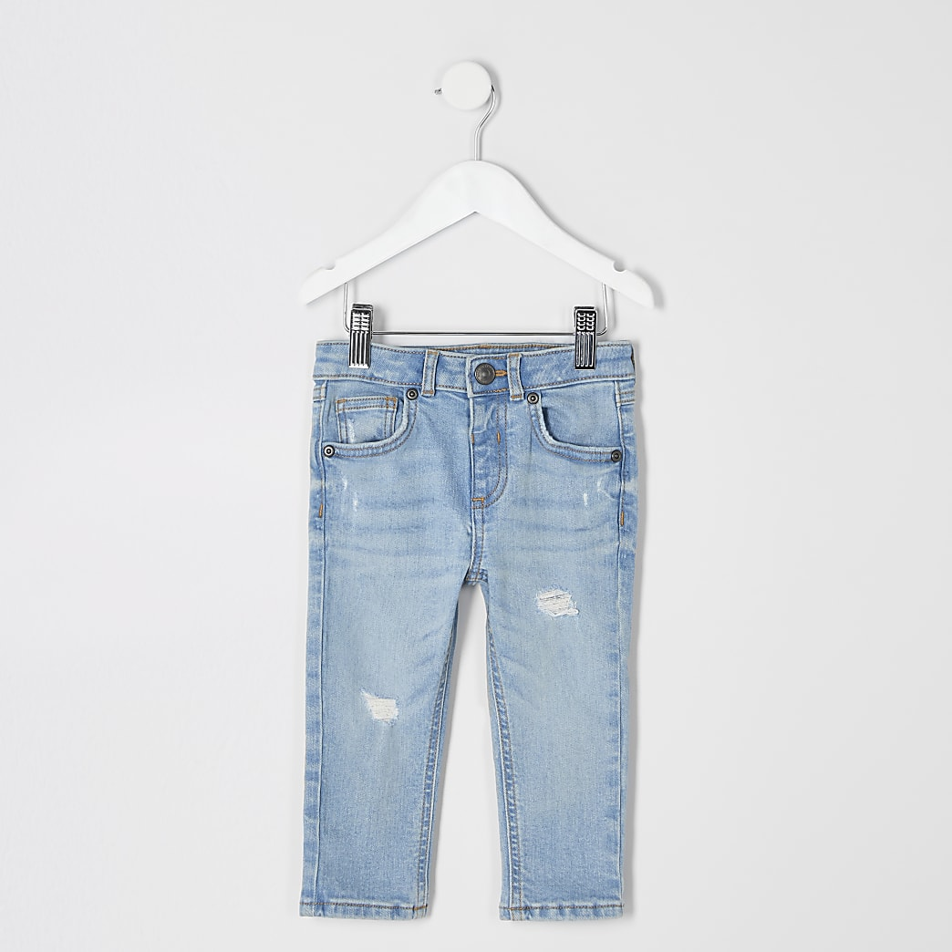 Mini boys light blue skinny jean