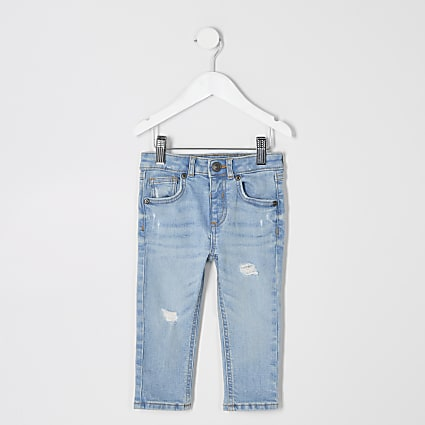 Mini boys light blue skinny jeans