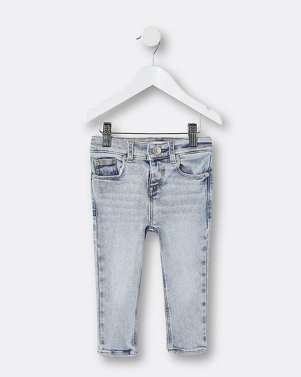 Mini boys light blue skinny jeans