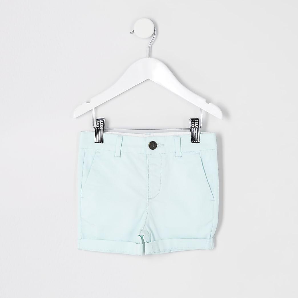 Mini - Lichtgroene chino shorts voor jongens