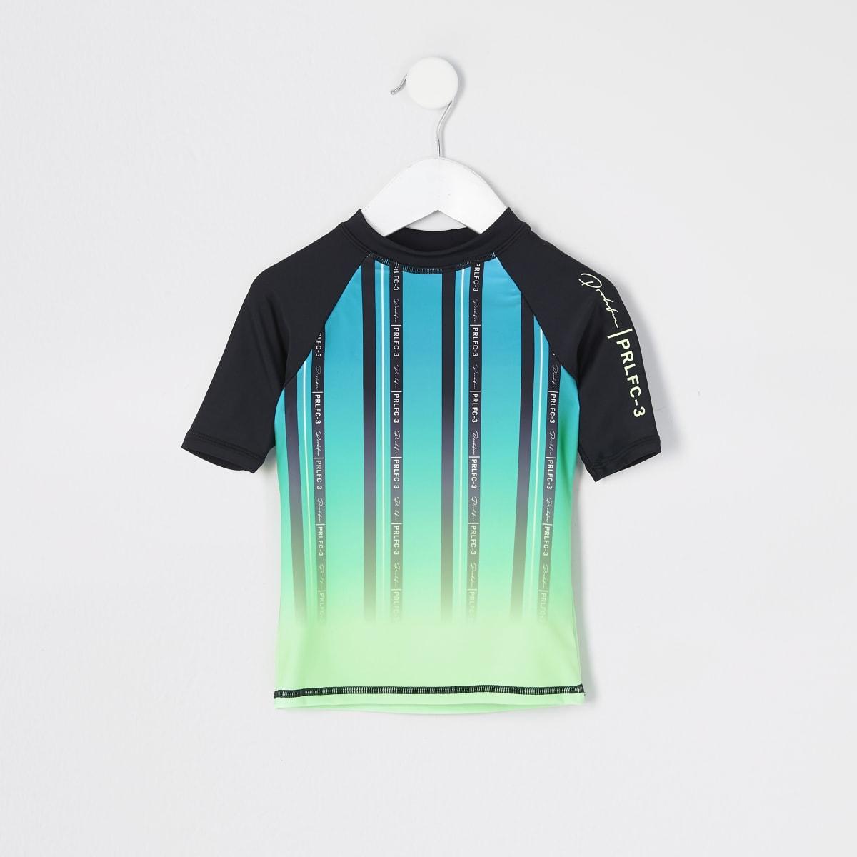 Prolific - Groengeel T-shirt met strepen voor mini-jongens