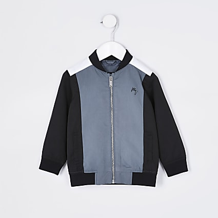 Mini boys Maison Riviera navy bomber jacket