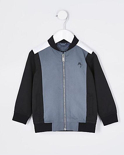 Mini boys Maison Riviera navy bomber jacket