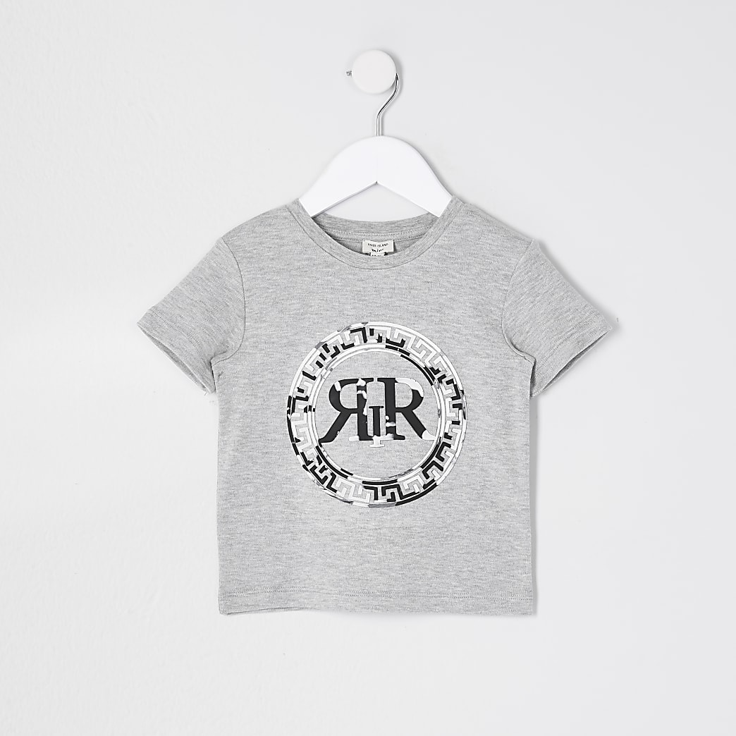 Mini boys marble print t-shirt