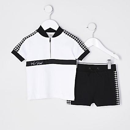 Mini boys 'Mini rebel' polo shirt outfit