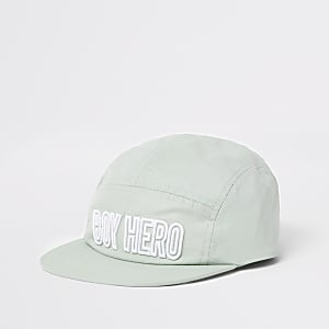 Mini boys mint 'Boy hero' nylon hat