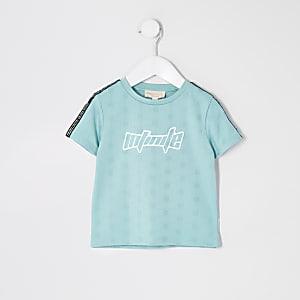 Mini - Mintgroen sportief T-shirt met 'infinite'-print voor jongens