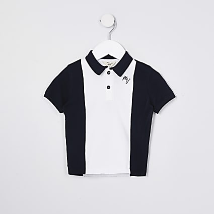 Mini boys navy blocked Polo