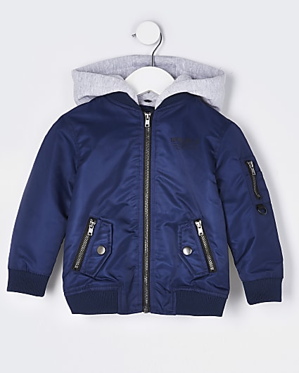 Mini boys navy bomber jacket