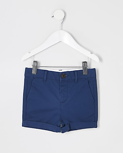 Mini boys navy chino shorts