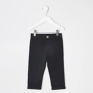 Mini - marineblauwe chinobroek voor jongens