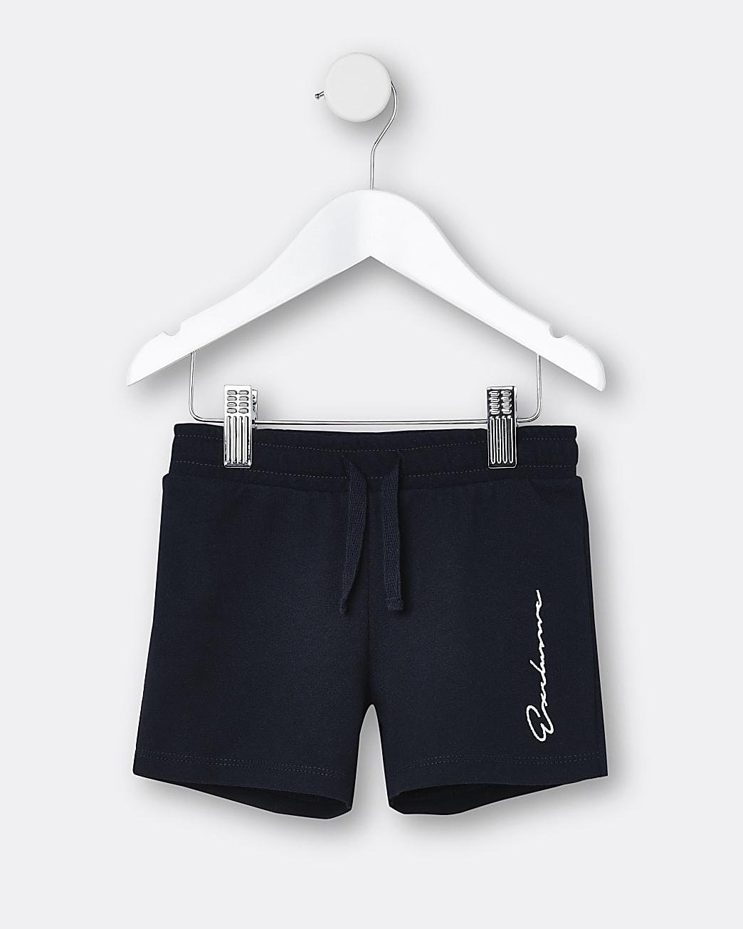 Mini boys navy 'Exclusive' shorts
