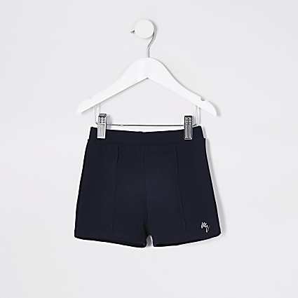 Mini Boys navy jersey twill short