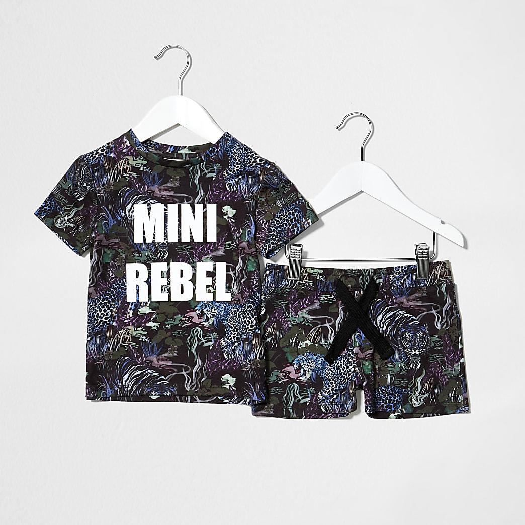 Mini boys navy jungle mini rebel outfit