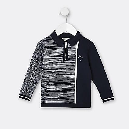 Mini boys navy Maison Riviera polo shirt