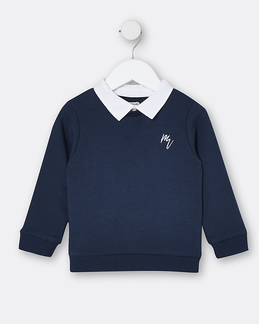 Mini boys navy Maison Riviera sweatshirt