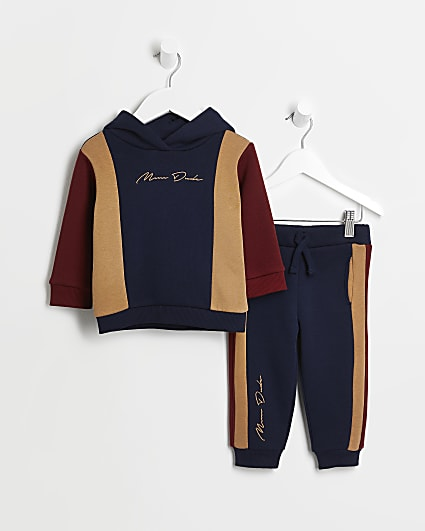 Mini boys navy 'Mini Dude' hoodie and joggers