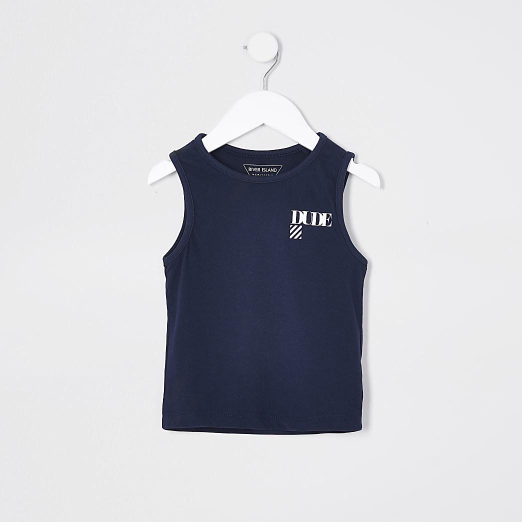 Mini boys navy multibuy vest