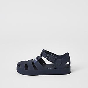 Prolific - Marineblauwe jelly sandalen voor mini-jongens