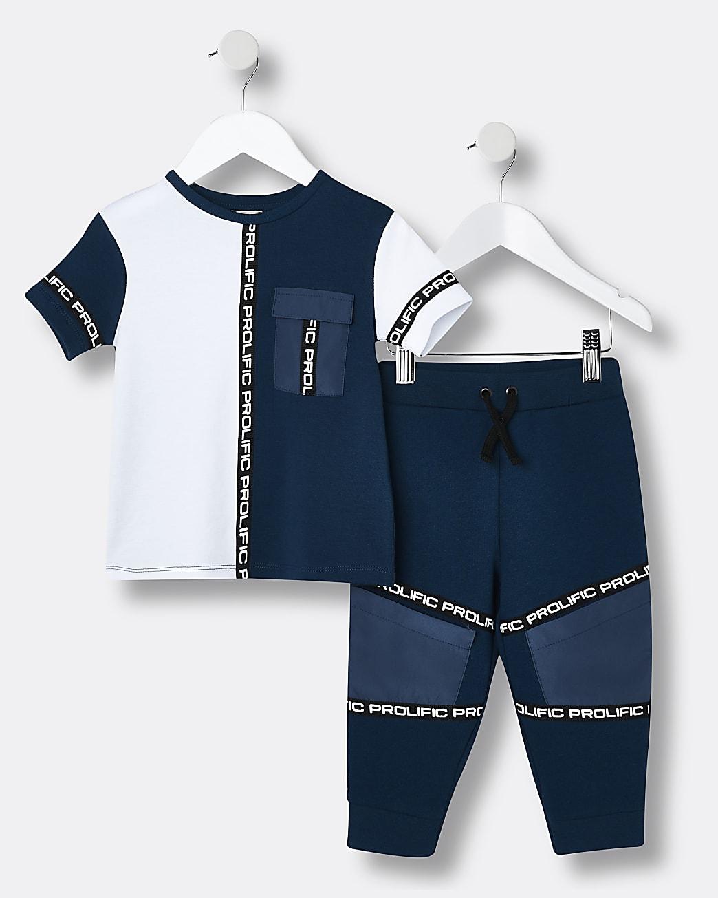 Mini boys navy Prolific t-shirt outfit