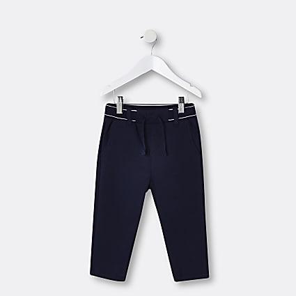 Mini boys navy RI branded trousers