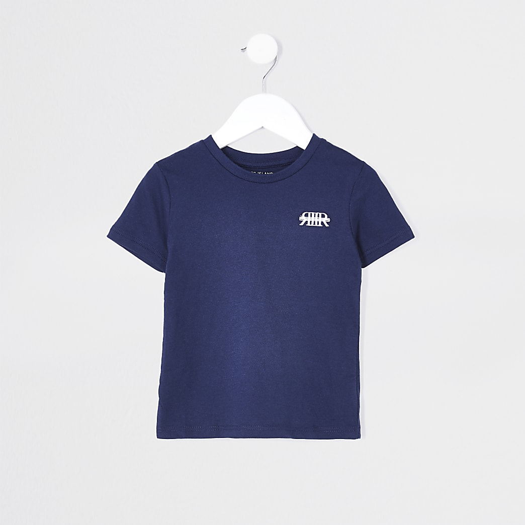 Mini boys navy RIR t-shirt