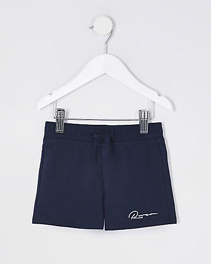 Mini boys navy 'River' shorts