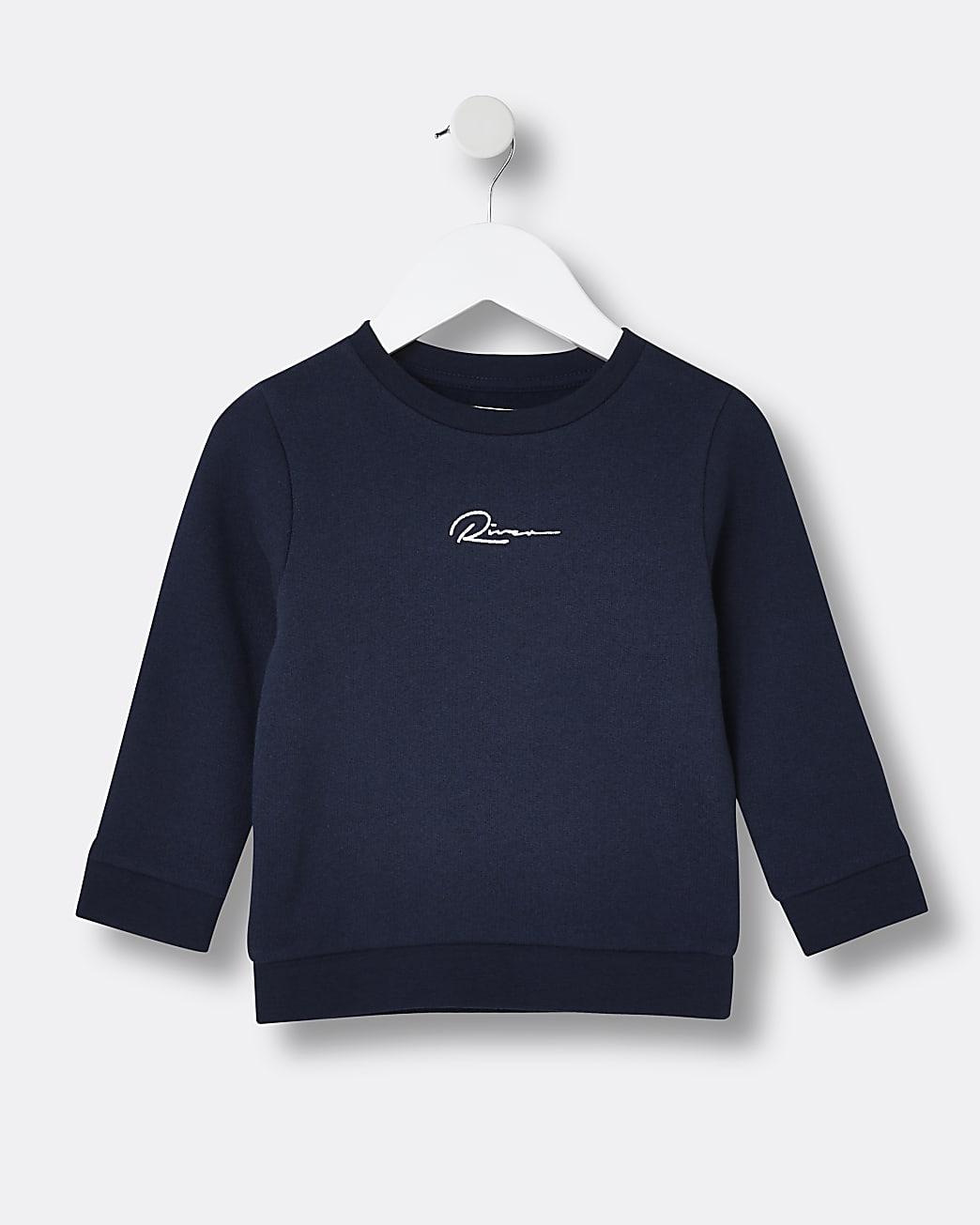 Mini boys navy River sweatshirt