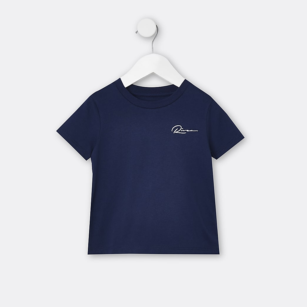 Mini boys navy River t-shirt
