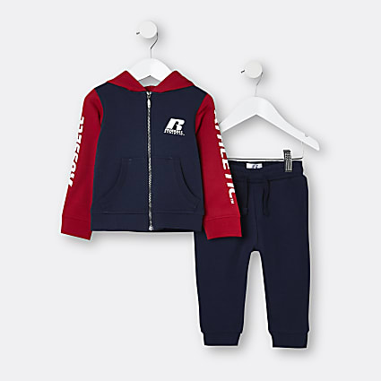 Mini boys navy Russell Athletic outfit