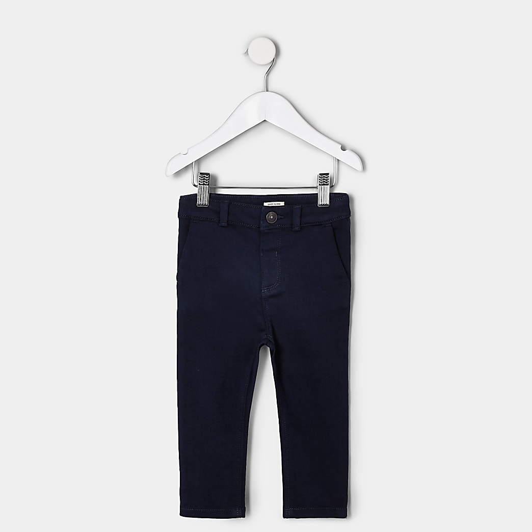 Mini boys navy smart trousers