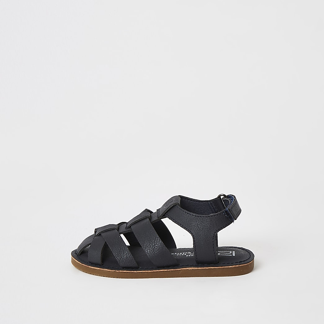 Mini boys navy strappy sandals