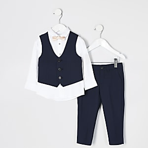 Mini – Marineblauer Anzug für Jungen
